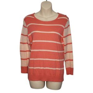 LORD & TAYLOR striped pullover sweater medium